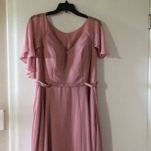 Azazie Jamie Dusty Rose Formal Dress
